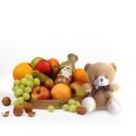 Fruitmand met knuffelbeer klein